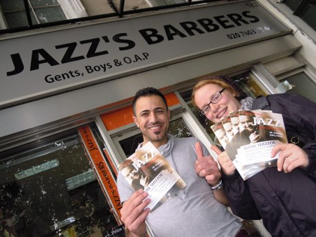 London Kensington, 182 Holland Park Avenue at Jazz's Barbers.